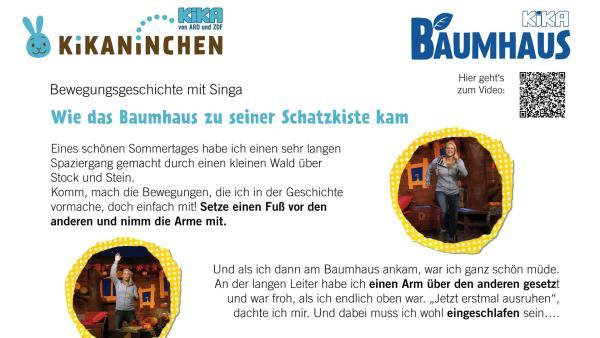 Anleitung für eine Bewegungsgeschichte mit Singa | Rechte: KiKA