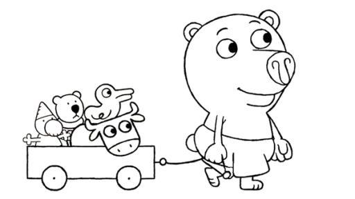 ausmalbilder kinderserien  kinder ausmalbilder