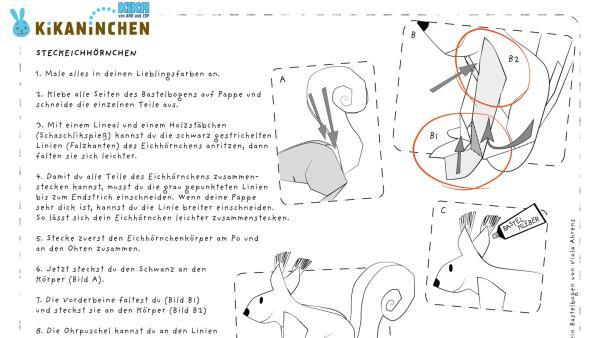 ENE MENE BU Bastelaufruf Steckeichhörnchen | Rechte: KiKA