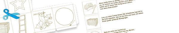Druck dir das Würfelnetz aus und bastle ein Würfelspiel, bei dem du Bewegungen nachmachen musst. | Rechte: KiKA