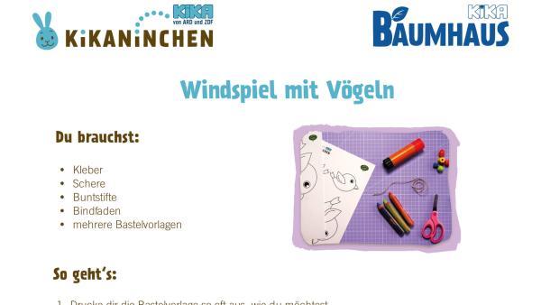 Windspiel basteln | Rechte: KiKA