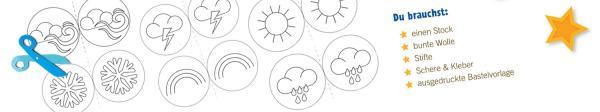 Zaubere dir dein Wunsch-Wetter, indem du das passende Wetter auf deinen Zauberstab steckst. Ob Sonne, Regen, Wind oder auch einen Regenbogen - alles kannst du mit einem Zauberspruch herbei zaubern.    Rechte: KiKA