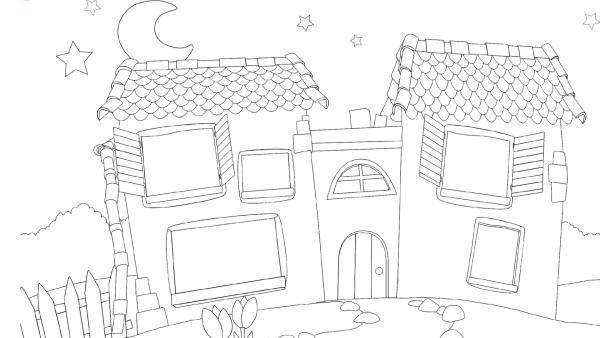 Gute Nacht Haus im Frühling | Rechte: KiKA
