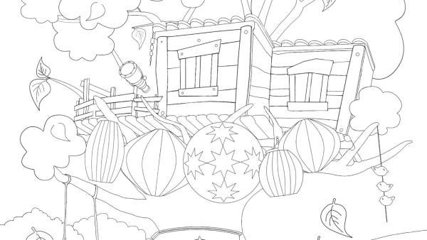 Baumhaus im Herbst | Rechte: KiKA