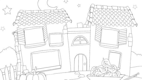 Gute Nacht Haus im Herbst | Rechte: KiKA