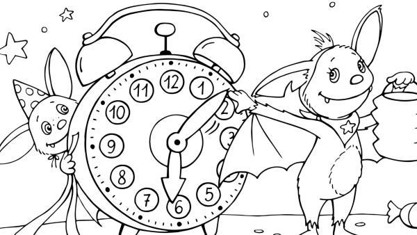 Fidi dreht an der Uhrzeit   | Rechte: KiKA