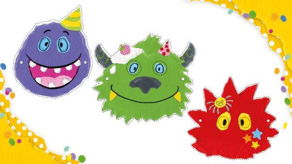 Monstermasken ausdrucken und gestalten | Rechte: KiKA