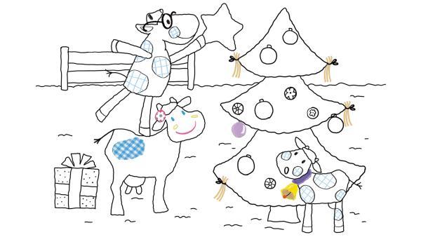 Weihnachten bei den Kühen | Rechte: KiKA