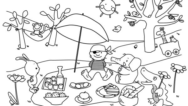 Osterpicknick mit Kikaninchen und seinen Schnipselfreunden | Rechte: KiKA