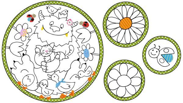 KiKANiNCHEN Monster-Mandala für das Fenster   Rechte: KiKA