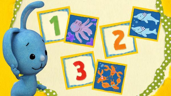 Spiele mit Kikaninchen und lerne Zahlen. Schaffst du es, alle Paare zu finden?  | Rechte: KiKA