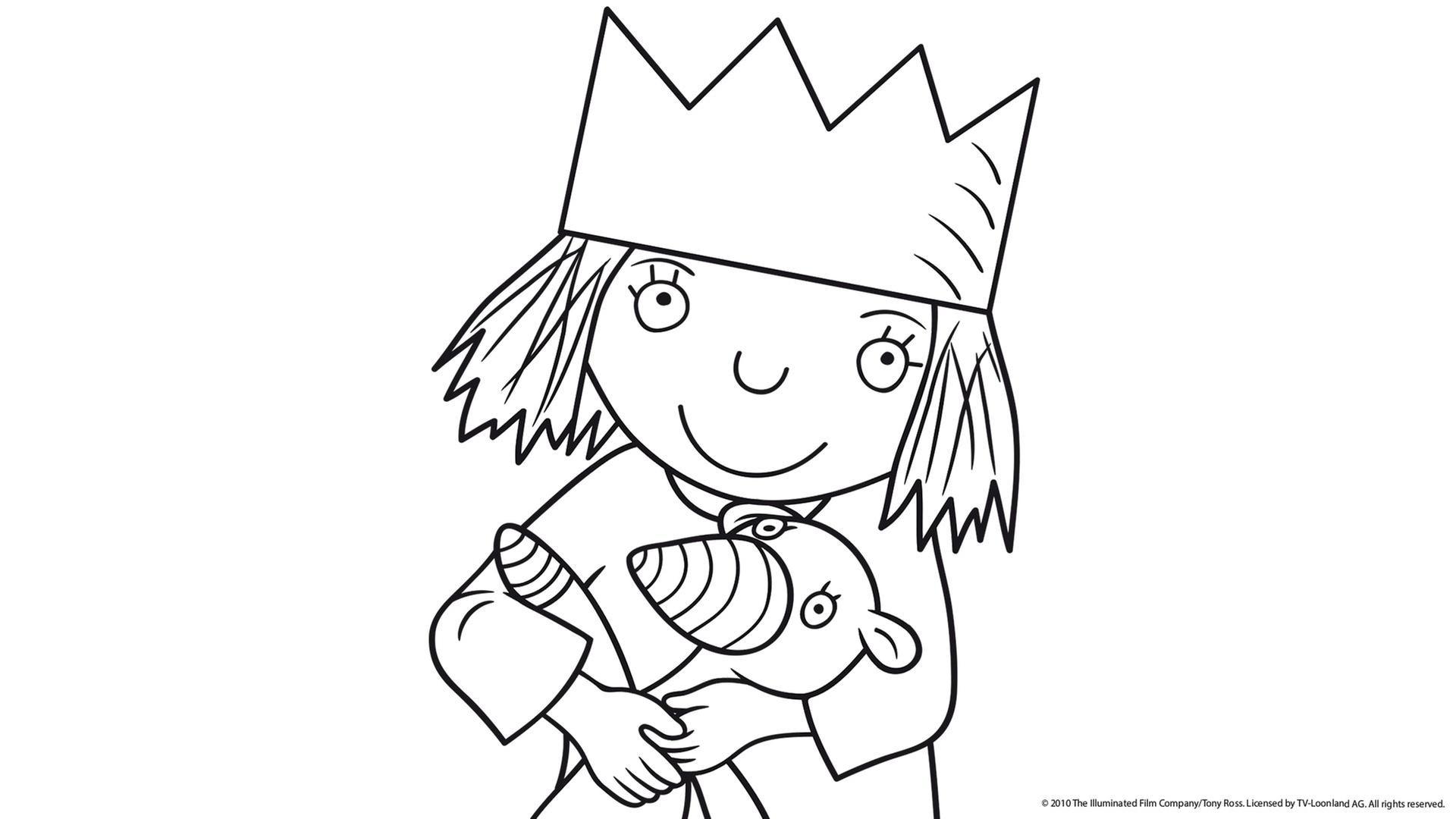 Kleine Prinzessin - Ausmalbilder - KiKANiNCHEN