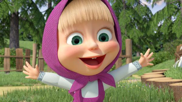Für die kleinen Kinder singt Mascha bekannte Kinderlieder in ihrer ganz eigenen Version. | Rechte: KiKA/Animaccord Animation Studio