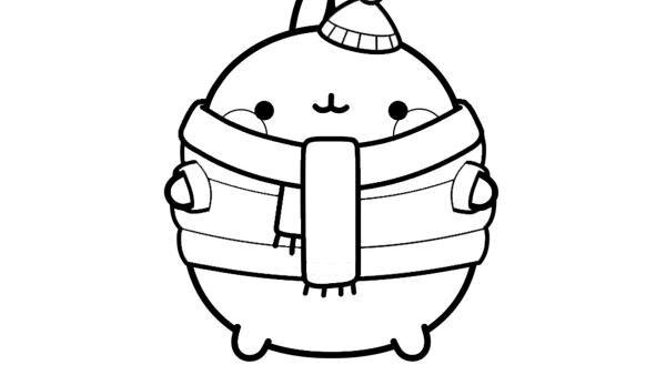 Molang mit Mütze und Schal  | Rechte: KiKA