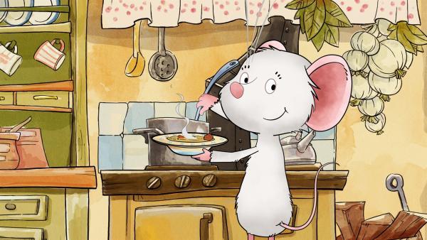 Tilda Apfelkern, die kleine holunderblütenweiße Kirchenmaus, liebt ihre Freunde, köstliches Essen und gemütliche Picknicke. Jeder Tag ist wunderbar in dem kleinen Dorf, das herrlich zwischen Hügeln liegt und wo kleine und große Abenteuer auf seine Bewohner warten.   Rechte: KiKA