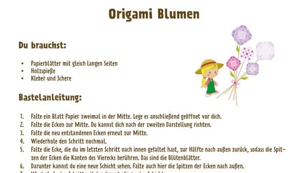 Papierblumen basteln | Rechte: Moonscoope Entertainment/LLC/KiKA/WorkOut Factory B.V/Telegael Teo