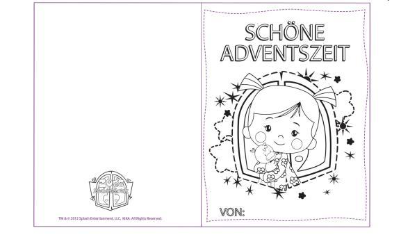 Adventskarte mit Zoé und QuackQuack | Rechte: TM/Splash Entertainment/LLC/KiKA