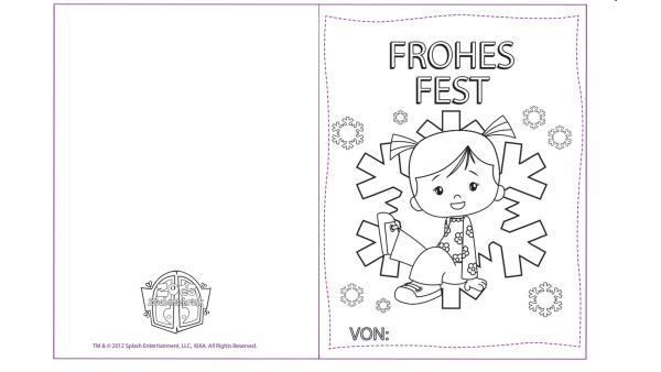 "Karte ""Frohes Fest"" mit Zoé | Rechte: TM/Splash Entertainment/LLC/KiKA"