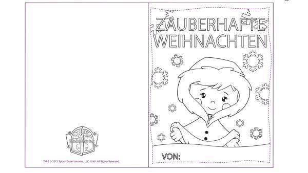 Weihnachtskarte mit Zoé | Rechte: TM/Splash Entertainment/LLC/KiKA